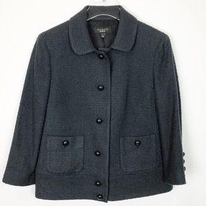 Talbot's Tweed Black Adorable Blazer 8
